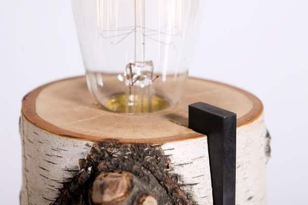 Repurposed Wood Log Lamps Lamps & Lights Wood & Organic