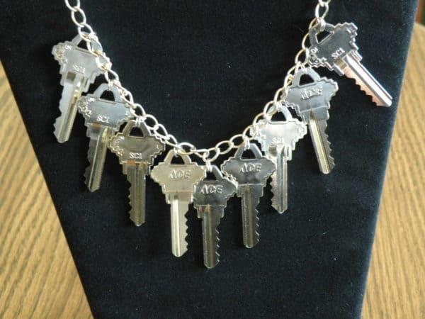 Keys Necklace Upcycled Jewelry Ideas