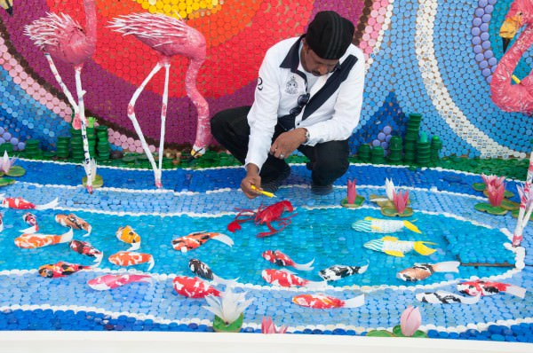 From Trash to Treasure Interactive, Happening & Street Art Recycled Art