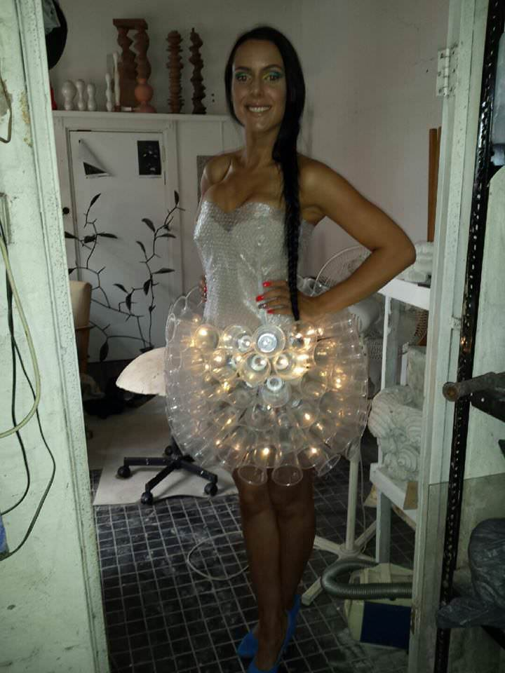 Jelly Fish Dress Recyclart