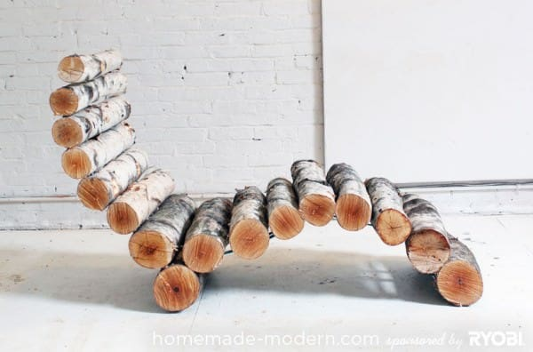 Diy: Wood Log Lounger Recycled Furniture Wood & Organic