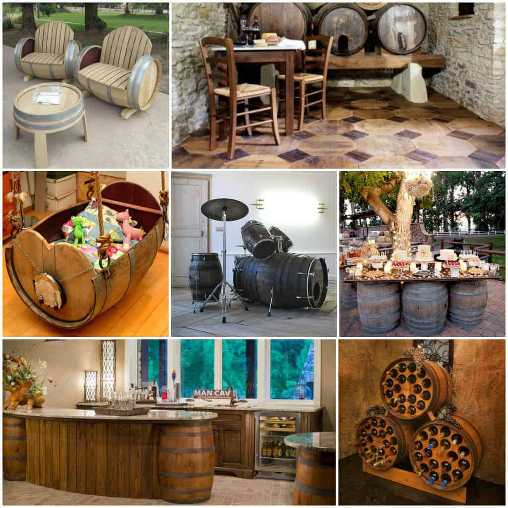 14 ideas of recycled wine barrels recyclart for Recycling furniture decorating ideas