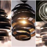 Vortex: Recycled Steel Wine Barrel Hoops
