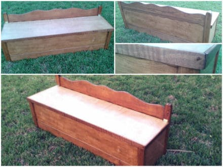 Dining Bench Made from an Upcycled Bed