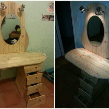 Pallets dressing table