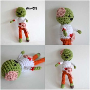 Zombie crocheted pattern