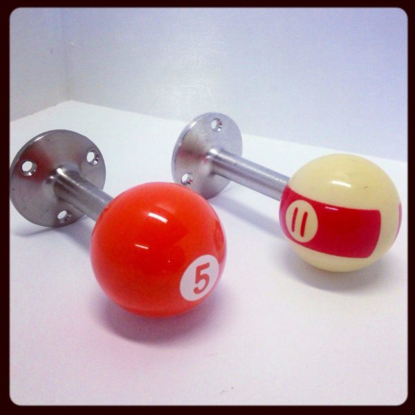 Recycled Pool Balls into Door Stops Accessories