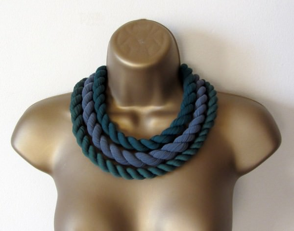 Recycled Tights Necklace Accessories Upcycled Jewelry Ideas