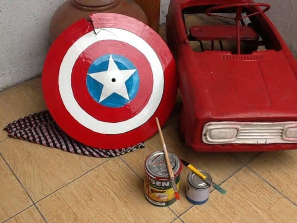 Broken Cymbal to Captain America Shield Do-It-Yourself Ideas
