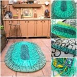 Recycled Hoses into Garden Mat