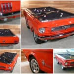 Upcycled 1965 Ford Mustang into Pool Table