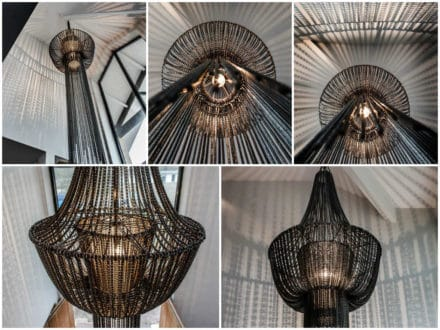 Chandelier Made of 450 Recycled Bike Chains