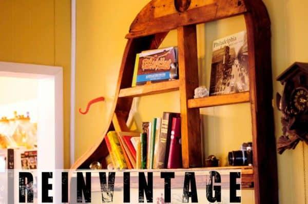 Piano Frame Bookshelf Recycled Furniture