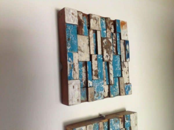 Upcycled Sailboat Art Mechanic & Friends Recycled Art Wood & Organic