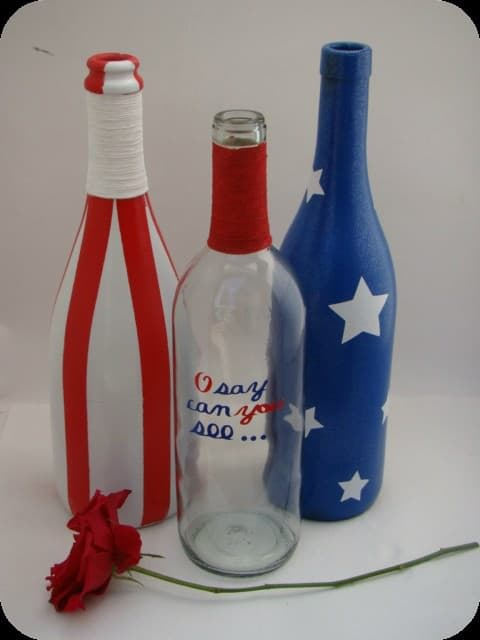 Wine and Twine Do-It-Yourself Ideas Recycled Glass