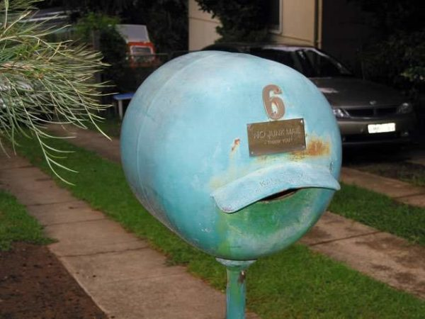 A Collection of 38 Recycled Mailboxes from Sydney Garden Ideas