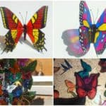 Beautiful Butterflies from Recycled Plastic