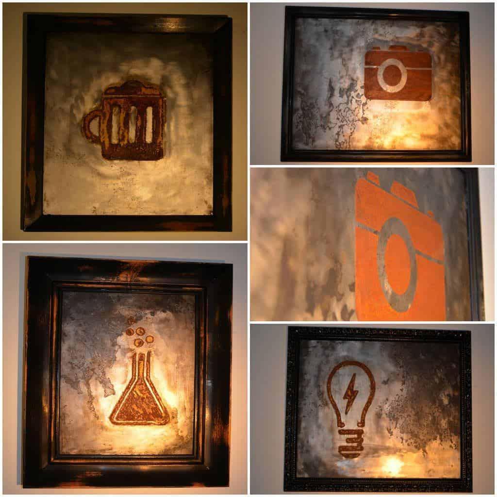 metal engraving art tableau gravure sur m tal recyclart. Black Bedroom Furniture Sets. Home Design Ideas