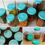 Colourful Chalkboard Spice Jars