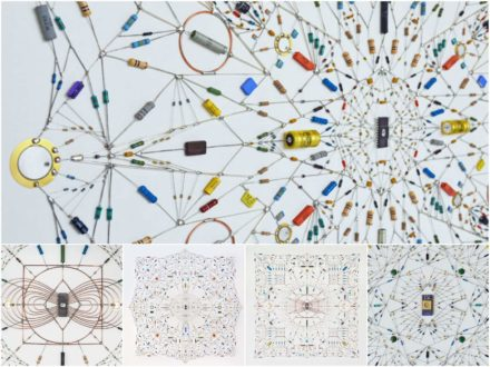 Technological Mandalas Made from Soldered Electronic Components