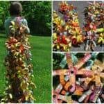 Reclaimed Water Bottles Sculpture
