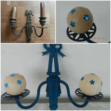 Upcycled Bronze Lighting / Transformer Une Vieille Applique En Patère