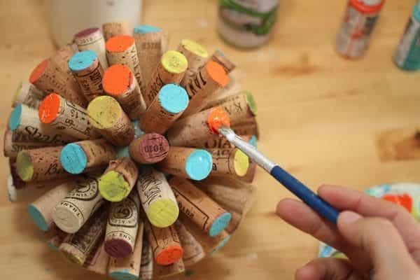 Recycled-wine-cork-globe-ball-tutorial5