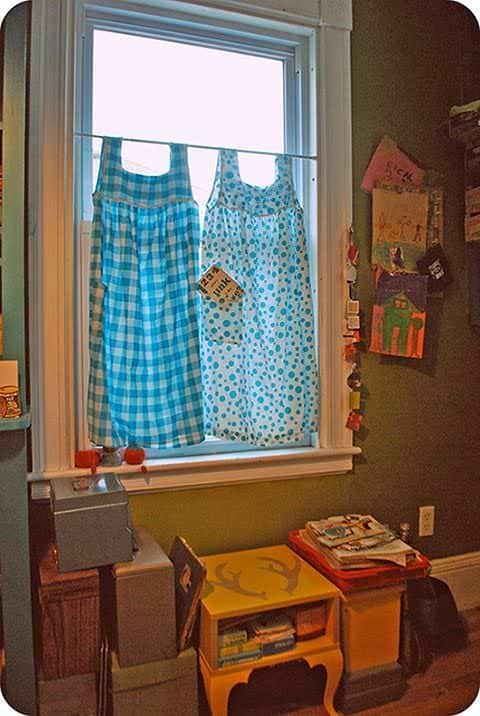 Diy window dressing ideas recyclart Window treatment ideas to make