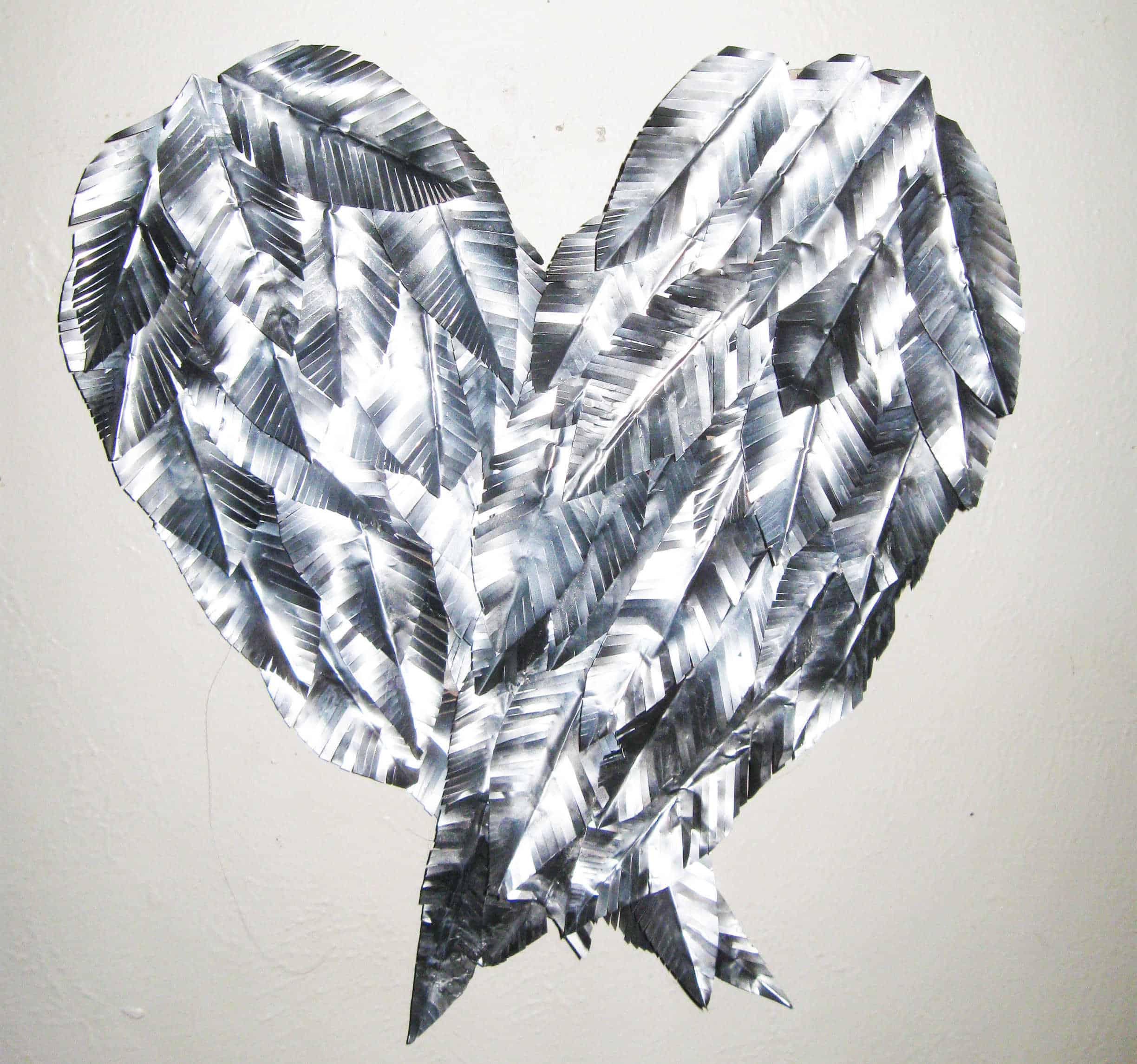 Recycled aluminum can angel wings wall art recyclart solutioingenieria Choice Image