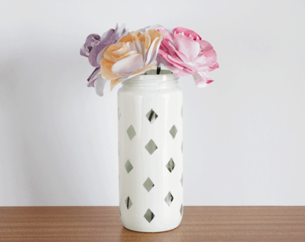 Diy: Diamond Vase Do-It-Yourself Ideas Recycled Glass