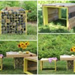 Pallet Wood & Upcycled Metal Cage Garden Furniture