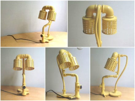 Salvaged Yellow Lamp