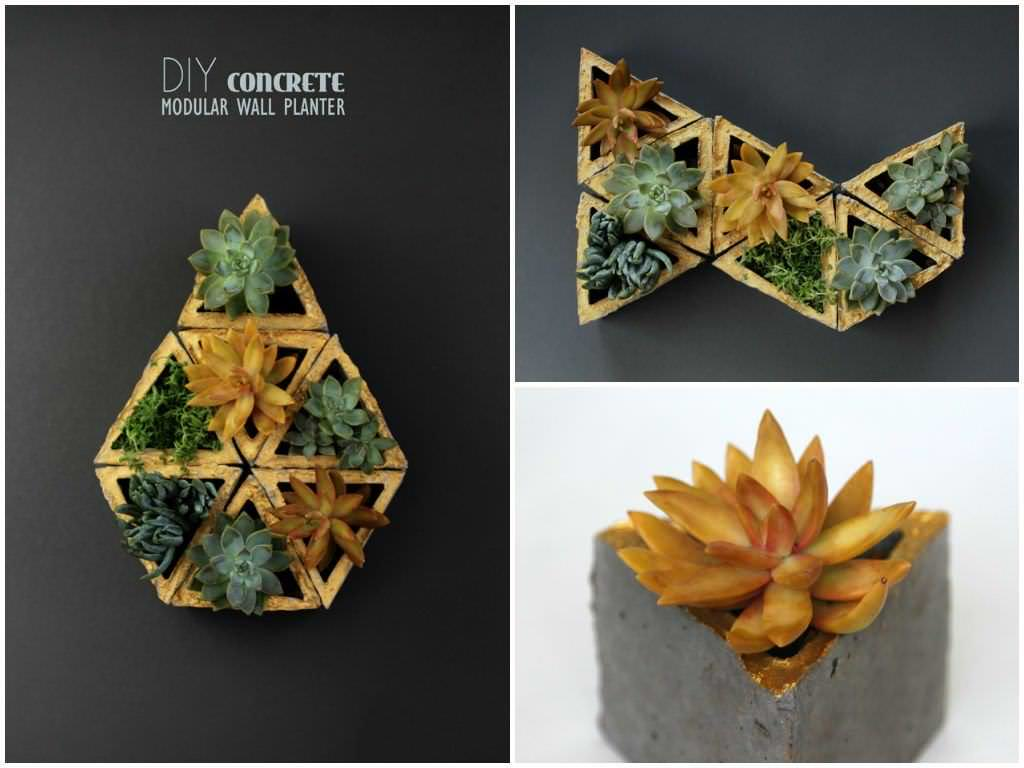Concrete Wall Planters Made With Recycled Cardboard Molds • Recyclart