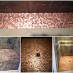 Shower Floor Made Out Of 5382 Pennies