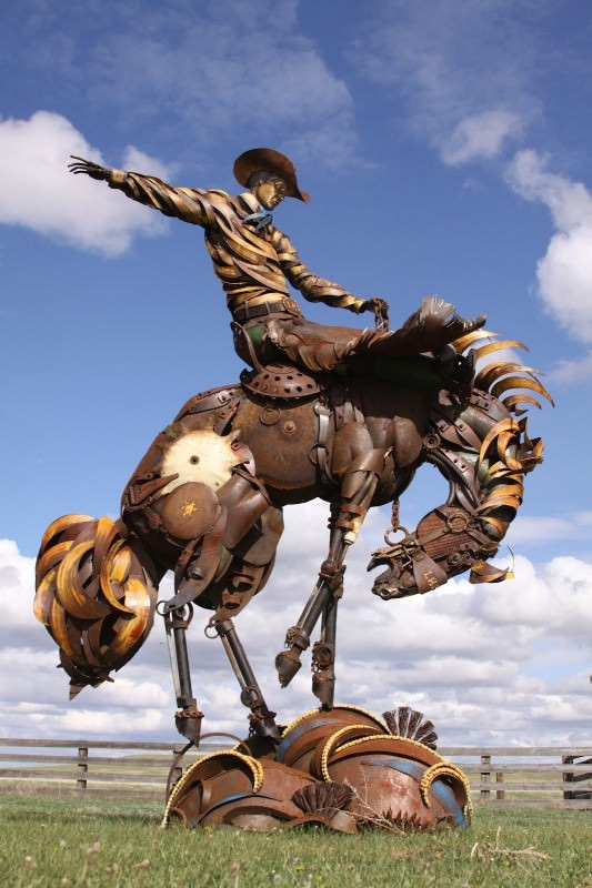 Scrap Sculptures By John Lopez Recycled Art