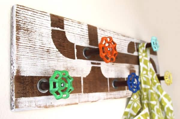 Recycled Water Faucet Handles into Coat Rack Accessories Do-It-Yourself Ideas