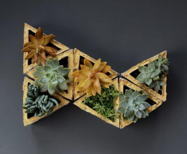 Concrete Wall Planters Made With Recycled Cardboard Molds Do-It-Yourself Ideas Recycled Cardboard