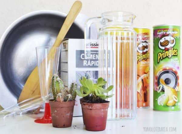 Diy Concrete Planters with Pringles Boxes / Maceteros Con Botes De Pringles Do-It-Yourself Ideas