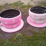 Tyre Coffee Cups Planter