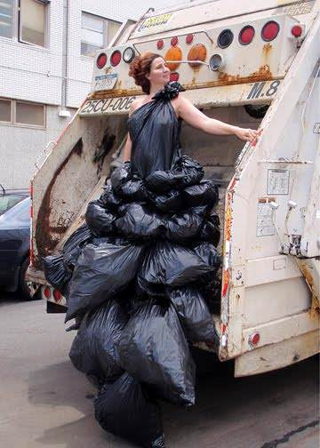 Garbage Dress by Robin Barcus Clothing Recycled Plastic
