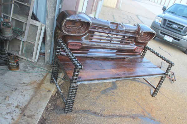 Vintage Truck Parts Transformed Into Benches Recyclart
