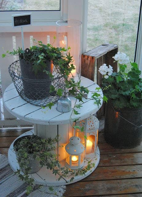 6 creative ideas for reusing reels in your home d cor - Weihnachtliche dekorationsideen ...