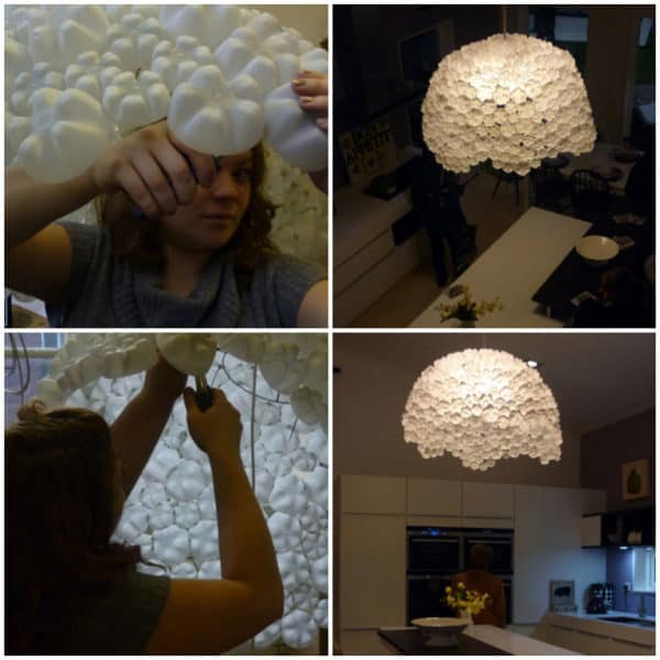 310 Plastic Bottles Recycled into Ceiling Pendant Lamp Lamps & Lights