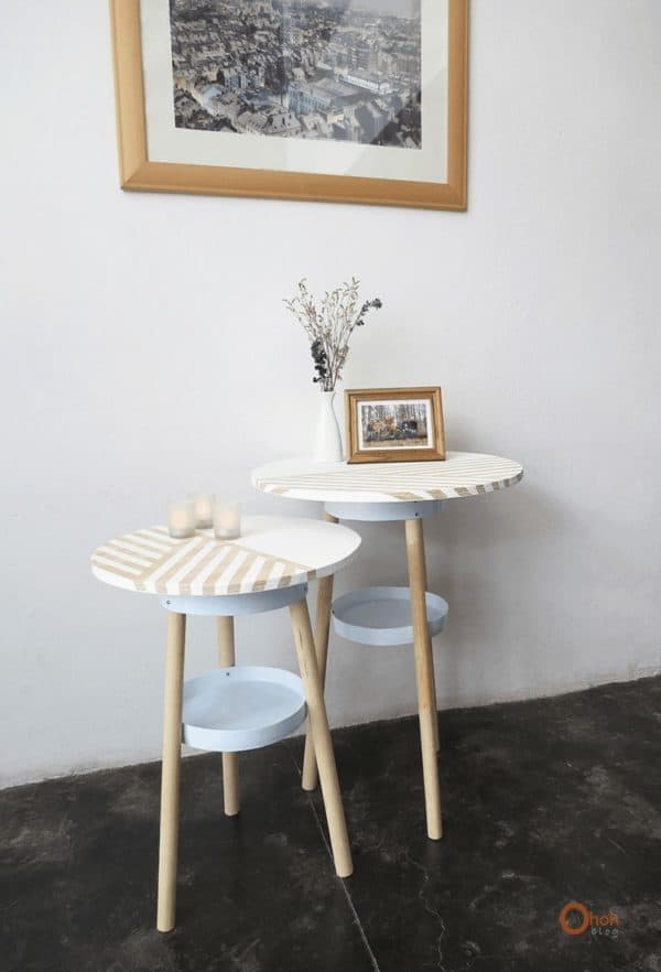 Side Table Made from Upcycled Paint Bucket Do-It-Yourself Ideas Recycled Furniture