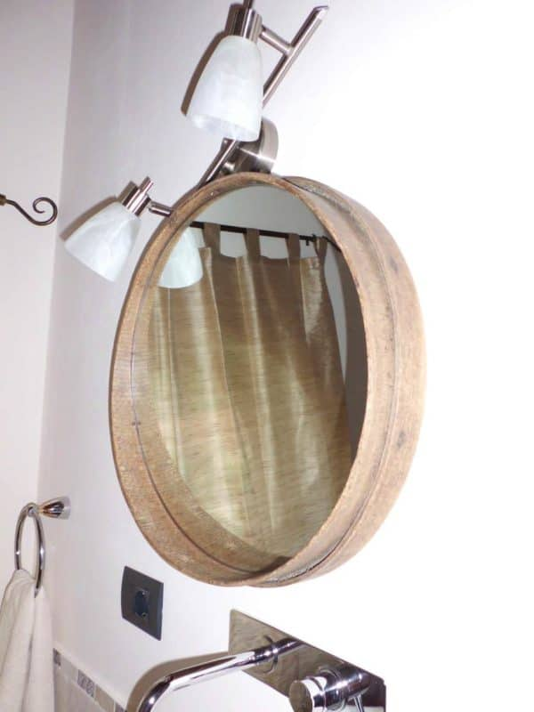 Sieve into Bathroom Mirror Accessories Do-It-Yourself Ideas