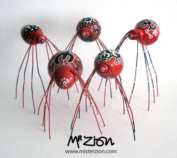 The Spiderz by Mister Zion Recycled Art