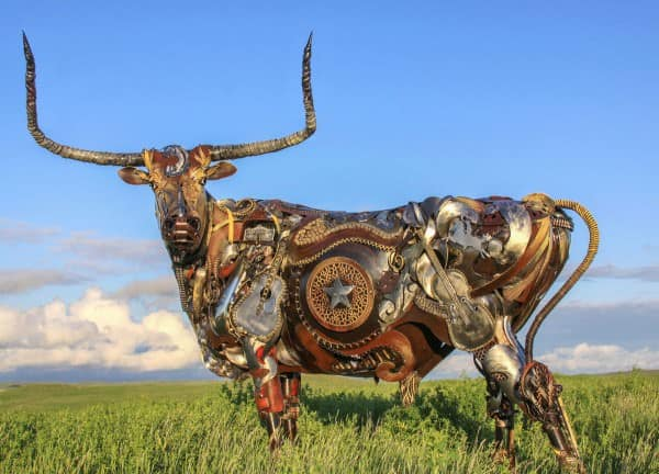 John Lopez Metal Sculptures Recycled Art Recycling Metal