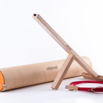 T1 Handmade led lamp from recycled materials