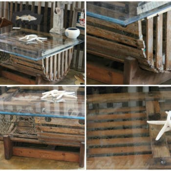Repurposed Lobster Trap into Coffee Table