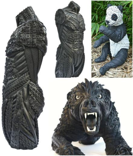 Amazing Recycled Tire Sculptures